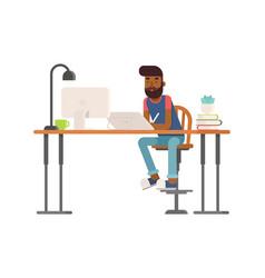 Freelance designer cg artist character vector