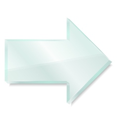 Glass arrow vector image vector image