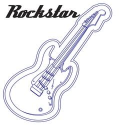 Guitar Rockstar vector image vector image