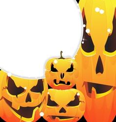 Halloween pumpkins jack o lanterns vector