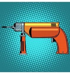 Hammer drill power tools vector image