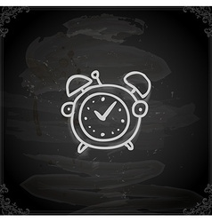 Hand drawn alarm clock vector