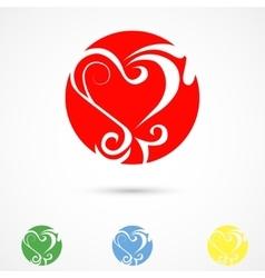 Heart pattern vector