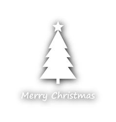 Merry christmas with christmas tree vector