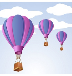 parachute in sky vector image vector image