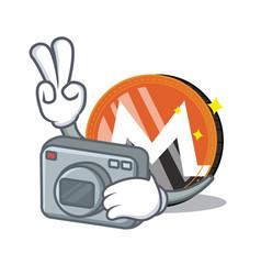 Photographer monero coin character cartoon vector