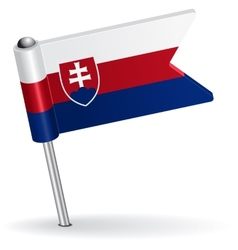 Slovak pin icon flag vector