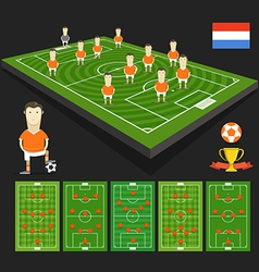Soccer world cup team presentation holland team vector