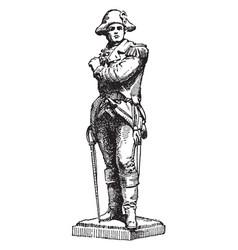 Statue of ethan allen was a american sculpture vector
