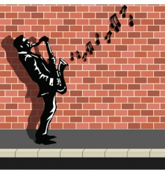 street busker vector image vector image