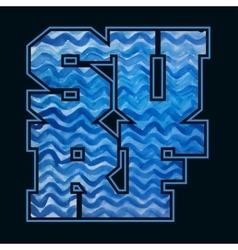 Surfing emblem T-shirt graphic print vector image