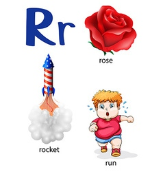 Things that start with the letter R vector image