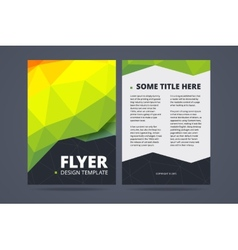 one sided brochure template - flyer low poly vector images over 1 800