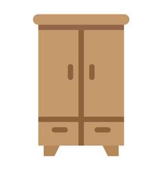 wardobe flat icon furniture and interior vector image vector image