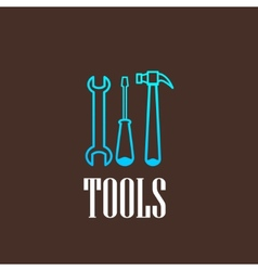 with a tool set vector image vector image