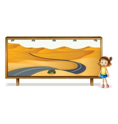 girl and board vector image