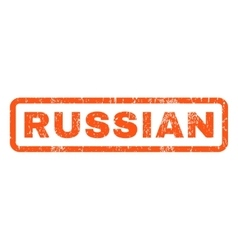 Russian rubber stamp vector