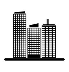 Contour buildings and city scene line sticker vector