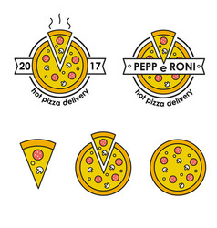 pizza delivery hot pizza delivery food delivery vector image