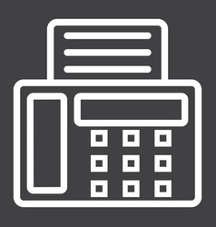 Fax line icon contact us and website vector