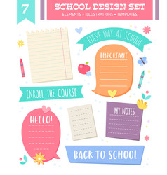 Set of empty templates and speech bubbles vector
