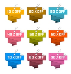 Paper discount labels tags isolated on white vector