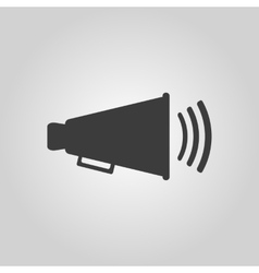 The megaphone icon bullhorn symbol flat vector
