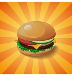 Hamburger with shadow vector