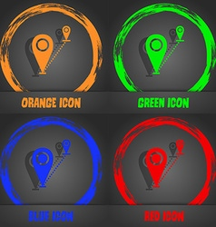 Map pointer icon sign fashionable modern style in vector