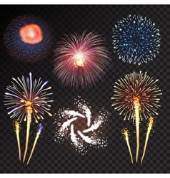 Fireworks festive bursting sparkling vector