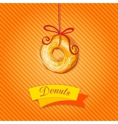 Doughnut bakery or cafe banner vector