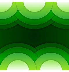Abstract green round shapes background vector image vector image