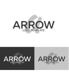 arrow logo letter a logo logo template vector image