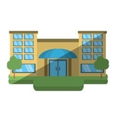big building style icon vector image