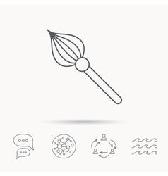 Brush icon Paintbrush tool sign vector image