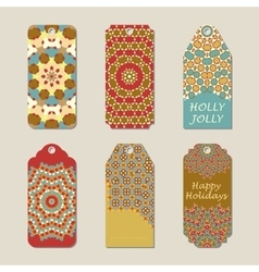 Christmas gift tags with vector image vector image