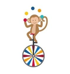 Circus monkey cartoon vector
