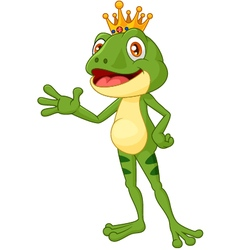 Cute frog presenting vector