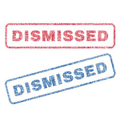 Dismissed textile stamps vector