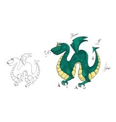 dragon drawing vector image