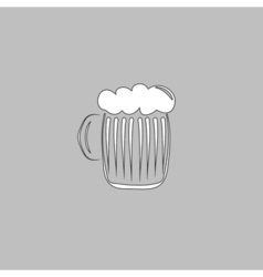 foamy beer computer symbol vector image