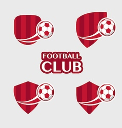 Football badge 6 vector