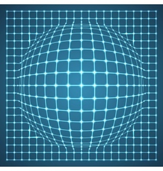 Illuminated Grid Sphere vector image