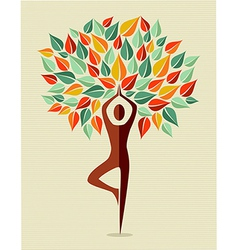 India colorful yoga leaf tree vector