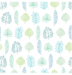 light green and blue geometrical tropical vector image vector image