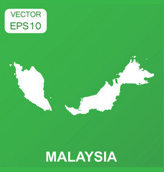 Malaysia map icon business concept malaysia vector
