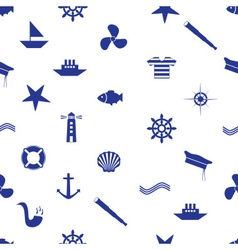 nautical icon seamless pattern eps10 vector image vector image