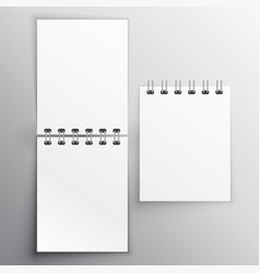 Note diary mockup design template vector
