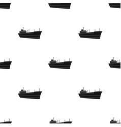 Oil shipoil single icon in black style vector
