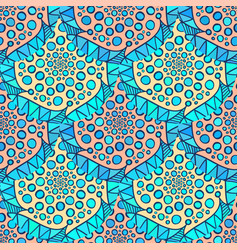 Ornamental arabic pattern abstract mosaic vector